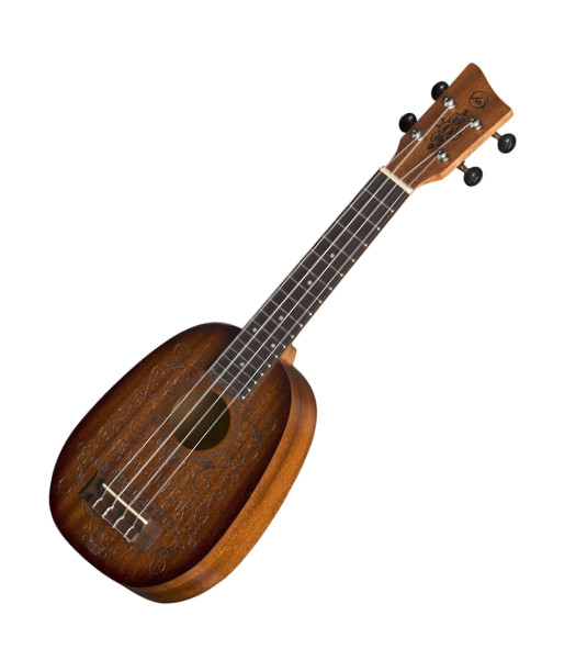 VGS Manoa Kaleo K-PA-WHISKEY Pineappleukulele (Sopran), Sapelli