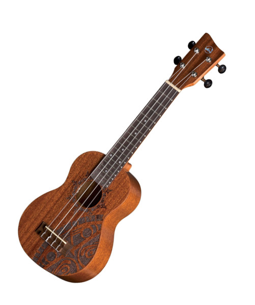 VGS Manoa Kaleo Tattoo KT-SO-INCA Sopranukulele, Sapelli, mit Gig Bag