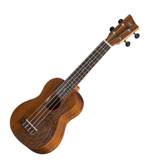 VGS Manoa Kaleo Tattoo KT-SO-MAORI Sopranukulele, Sapelli, mit Gig Bag