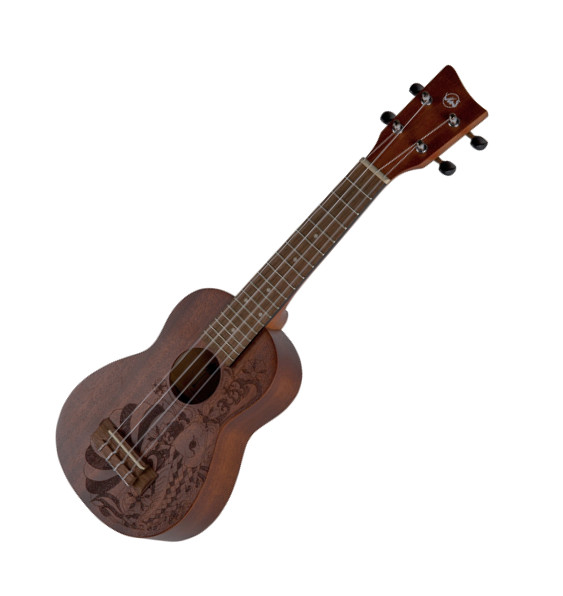VGS Manoa Kaleo Tattoo KT-SO-NIPPON Sopranukulele, Sapelli, mit Gig Bag