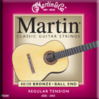 Martin M260 mit Ball End Konzertgitarre, regular tension