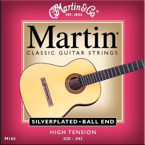 Martin M160 mit Ball End Konzertgitarre, high tension