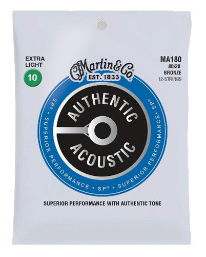 Martin Bronze MA180 Superior Performance Westerngitarre 12-saitig, extra light (010 - 047)