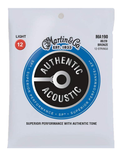 Martin Bronze MA190 Superior Performance Westerngitarre 12-saitig, light (012 - 054)