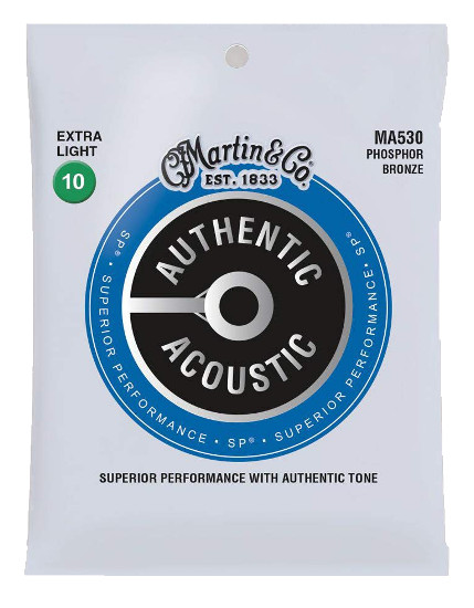 Martin Phosphor Bronze MA530 Superior Performance Westerngitarre, extra light (010-047)
