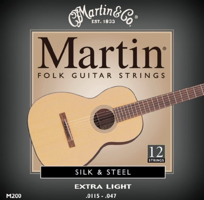 Martin M200 silk and steel Westerngitarre 12-saitig, 0115-047
