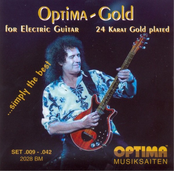 Optima 2028 Gold BM E-Gitarre, Brian May Signature (009-042)