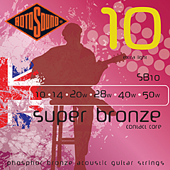 RotoSound Super Bronze SB 10 Westerngitarre, extra light (010 - 050)