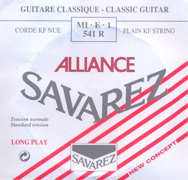 Savarez 541 R - e1 Konzertgitarre, normal tension