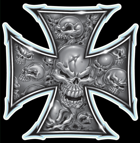 Guitar Tattoo - Planet Waves Grey Iron Cross - GT77007
