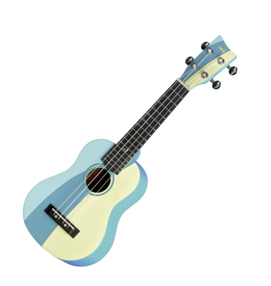 VGS Manoa Waimea W-SO-BL Sopranukulele, Sapelli, mit Gig Bag