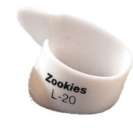 Dunlop Thumbpicks Zookies L20 weiß - large - 20°