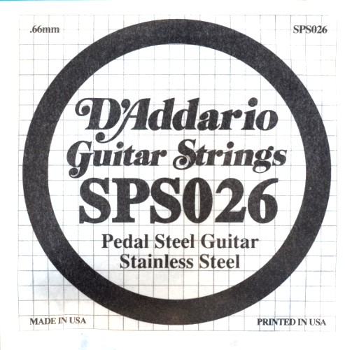D´Addario SPS026 Pedal Steel Guitar - 026 - stainless steel