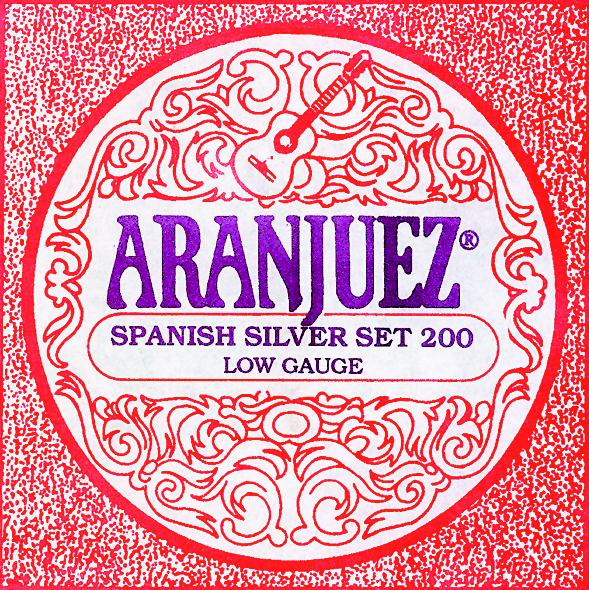 Aranjuez 200 Spanish silver Konzertgitarre, low