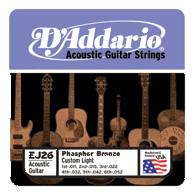 D´Addario Phosphor Bronze EJ26 Westerngitarre, custom light (011 - 052)