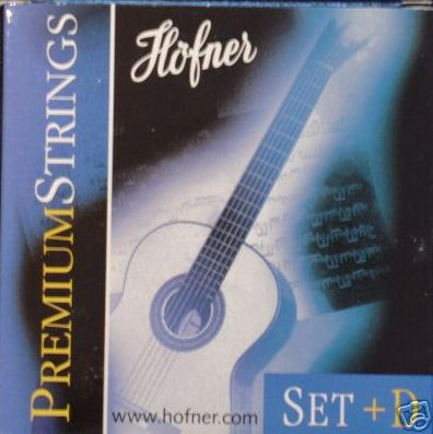 Höfner Premium strings HPS Konzertgitarre, medium/high