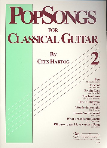 Popsongs vol. 2: easy arrangements for classical guitar Cees Hartog